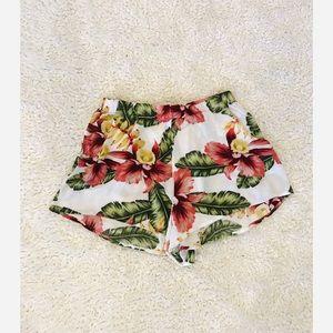 Show Me Your Mumu Floral Rayon Shorts XS